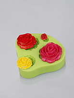 Rose mold for silicone use kitchen for fondant cake decoration chocolate mold candy tools