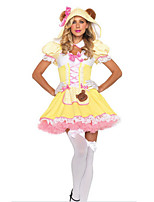 Costumes Animal Costumes Halloween Yellow Solid Terylene Dress / More Accessories