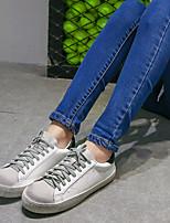 Da donna-Sneakers-Casual-Comoda / Punta arrotondata-Piatto-Di pelle-Nero / Verde
