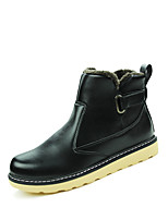Men High-top Cotton Warm Leather Boots