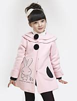 Mädchen Anzug & Blazer-Lässig/Alltäglich einfarbig Wolle / Baumwolle Frühling / Herbst Rosa / Rot