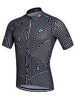 Sportivo Bicicletta/Ciclismo Maglietta/Maglia Per uomo Maniche corte Traspirante / Asciugatura rapida Coolmax Classico NeroS / M / L / XL