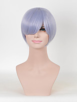 Fashion Short Straight Purple Color Afro Women Cosplay Synthetic Wigs