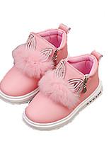 Розовый / Красный-Для девочек-Для прогулок / На каждый день-Дерматин-На плоской подошве-Удобная обувь-На плокой подошве