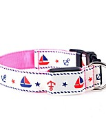 Dog Collar / Leash LED Lights / Adjustable/Retractable / Batteries Included / Strobe/Flashing / Cute and Cuddly / FashionRed / White /