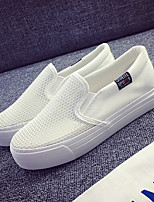 Women's Loafers & Slip-Ons Fall Comfort Tulle Casual Platform Others Black White Others