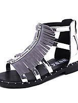 Girl's Sandals Summer Sandals / Open Toe PU Casual Flat Heel Tassel Silver / Gray Others