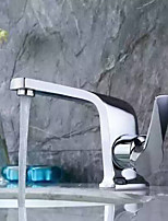 Contemporary Vessel Widespread with  Ceramic Valve Single Handle  Chrome  Bathroom Sink Faucet Basin Mixer Valve Tap