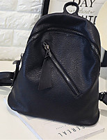 Casual Outdoor Shopping Backpack Women PU Black