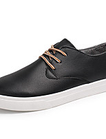 Men's Sneakers Spring/Summer/Fall/Winter Comfort Nappa Leather Office & Career/Athletic/Casual Big Size Black Sneaker