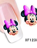 Симпатичные Микки мультфильм наклейки водяной знак шаблон для ногтей