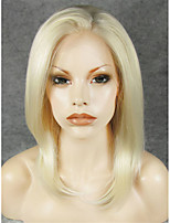 IMSTYLE 14 Heat Resistant Fiber Natural Straight Synthetic Lace Front Wigs For Black Woman
