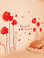 Botanique / Romance / Nature morte Stickers muraux Stickers avion / Stickers muraux 3D Stickers muraux décoratifs,PVC Matériel