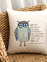 1PC Household Articles Back Cushion Novelty Originality Fashionable Floral Owl Print Prints Pillow Case