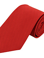 Men Wedding Party Solid Color Neck Tie Polyester Silk
