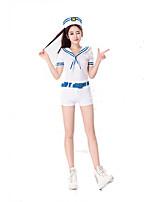Costumes Uniformes Halloween Blanc Couleur Pleine Térylène Robe / Plus d'accessoires