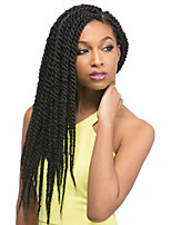 Black Havana Twist Braids Hair Extensions 12-24inch Kanekalon 80g/pcs gram Hair Braid