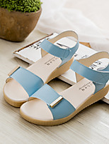 Women's Sandals Summer Slingback Leatherette Casual Flat Heel Others Blue / Pink / White Others