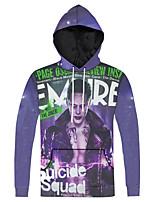 Men's Print Casual / Sport Pocket Hoodie Suicide Squad Print Long Sleeve Men 3d Hoodie