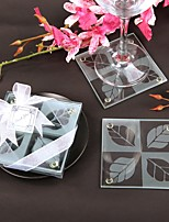 Beter Gifts Wedding dcor 2pcs Glass Coasters Patterns / Summer / TeaTime / Bridesmaids / Bachelorette
