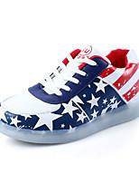 Белый-Унисекс-Повседневный-Полиуретан-На плоской подошве-Light Up обувь-На плокой подошве