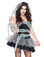 Costumes Zombie Halloween Noir Mosaïque Térylène Robe / Plus d'accessoires