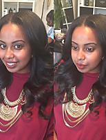 новые прибытия U-часть фронта шнурка человеческих волос для черных женщин перуанский средняя часть парики шнурка