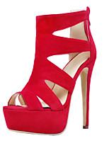 Women's Sandals Summer Heels / Platform / Sandals / Open Toe PU /  Party & Evening / Dress / Casual Stiletto Heel Zipper