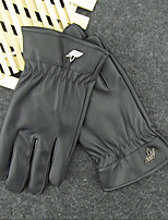 Men'S Motorcycle Touch Screen Gloves And Cashmere Thermal Cycling Leather Gloves