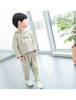 Boy's Casual/Daily Solid Clothing SetCotton Spring / Fall Black / Green