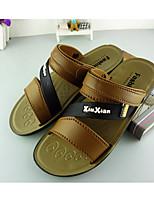 Men's Sandals Summer PVC Outdoor Flat Heel Others Brown Tan Water Shoes Walking