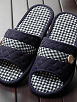 Unisex Slippers & Flip-Flops Fall / Winter Comfort Cotton Casual Flat Heel Bowknot Blue / Coffee Others