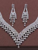 Schmuck Halsketten / Ohrringe Halskette / Ohrringe Modisch Hochzeit / Party 1 Set Damen Silber Hochzeitsgeschenke