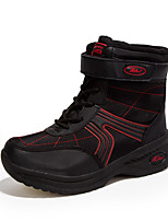 Damen-Stiefel-Lässig-Tüll-Flacher Absatz-Komfort-Schwarz Rot