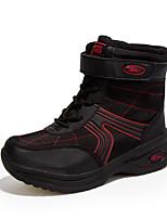 Mujer-Tacón Plano-Confort-Botas-Informal-Tul-Negro Rojo