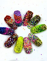8pcs Nail Cheese Glitter Powder Mixed Nail Sequins Sparkles Beauty Polish Manicure Pigment Nail Art Decorations SN33-40