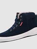 Черный Синий Зеленый-Мужской-Повседневный-Ткань-На плоской подошве-Удобная обувь-Кеды