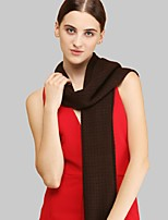 Women Acrylic ScarfCasual RectangleRed / Black / GraySolid