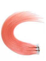nejprodávanější 100% remy lidské vlasy lepidlo kůže útek #pink páska v lidských prodlužování vlasů brazilský rovné vlasy