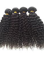 Brazilian Virgin Hair Kinky Curly Virgin Hair Grade 4PCS 7A Unprocessed Brazilian Human Hair Curly Weav