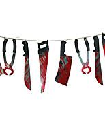 1 conjunto do partido do dia das bruxas assustador casa assombrada pendurado guirlanda galhardete bandeira decoração