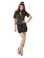Costumes Uniformes Halloween Noir / Vert Couleur Pleine Térylène Haut / Jupe / Plus d'accessoires