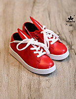 Unisex Flats Spring Fall Leather Casual Flat Heel Others Black Red White Other