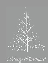 Christmas Tree Sticker Xams Tree Festival Wall Decals Snowflake Removable Stickers 3D Wall Mural Holiday Wall Decals