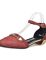Зеленый / Красный / Серый-Женский-На каждый день-Полиэстер-На низком каблуке-Удобная обувь-Обувь на каблуках