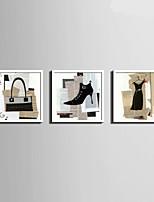 Отдых Холст в раме / Набор в раме Wall Art,ПВХ материал Белый Без коврика с рамкой For Украшение дома Рамка Art