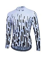 Sports® Cycling Jersey Women's / Men's / Unisex Long SleeveBreathable / Quick Dry / Front Zipper / YKK Zipper / Reflective Strips /