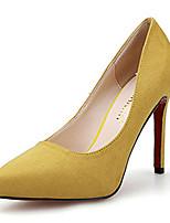 Черный / Желтый / Зеленый / Розовый / Серый-Женский-На каждый день-Флис-На шпильке-Удобная обувь-Обувь на каблуках