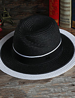 Men Satin Straw HatVintage All Seasons
