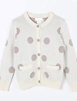 Girl's Casual/Daily Polka Dot Sweater & CardiganCotton Fall White